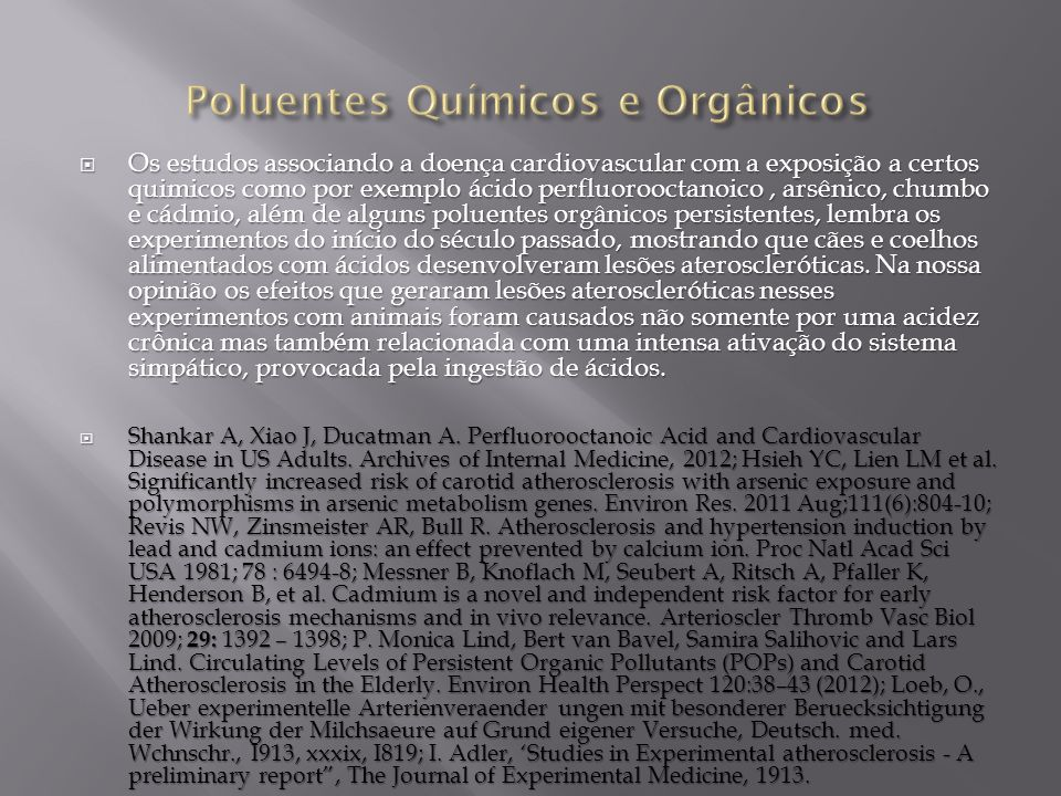 Poluentes Químicos e Orgânicos