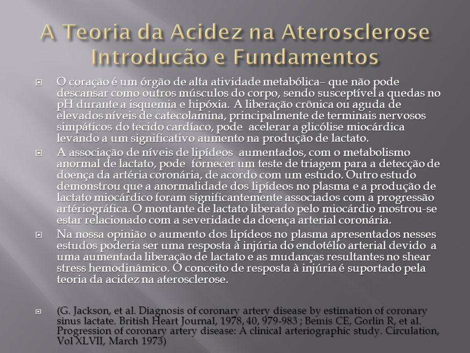 A Teoria da Acidez na Aterosclerose Introducão e Fundamentos
