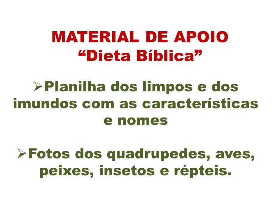 MATERIAL DE APOIO Dieta Bíblica