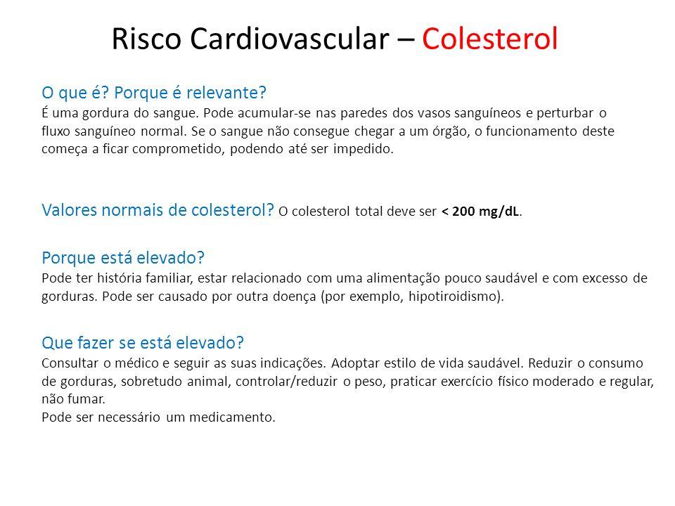 Risco Cardiovascular – Colesterol