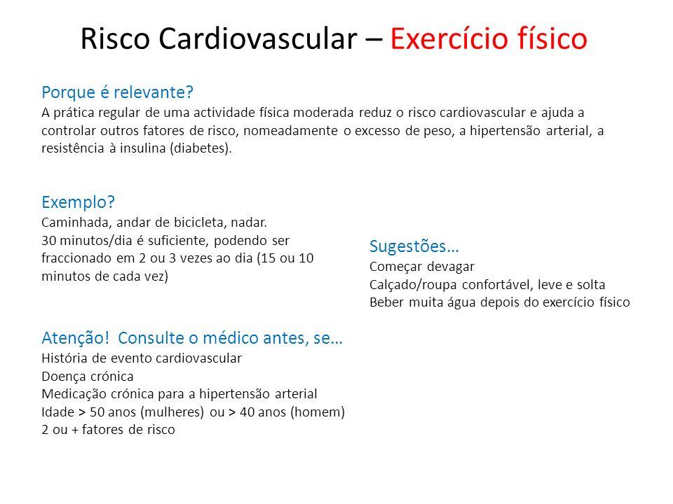 Risco Cardiovascular – Exercício físico