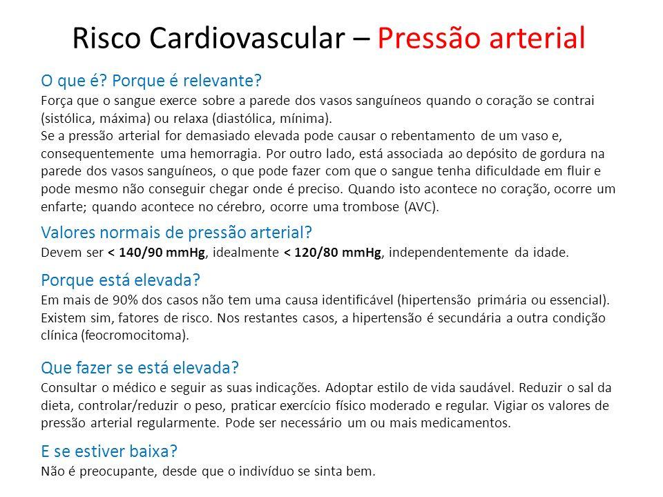 Risco Cardiovascular – Pressão arterial
