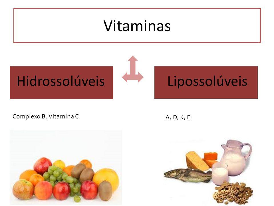 Vitaminas Hidrossolúveis Lipossolúveis Complexo B, Vitamina C