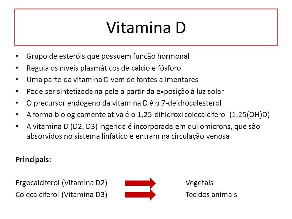 Vitamina D Grupo de esteróis que possuem função hormonal