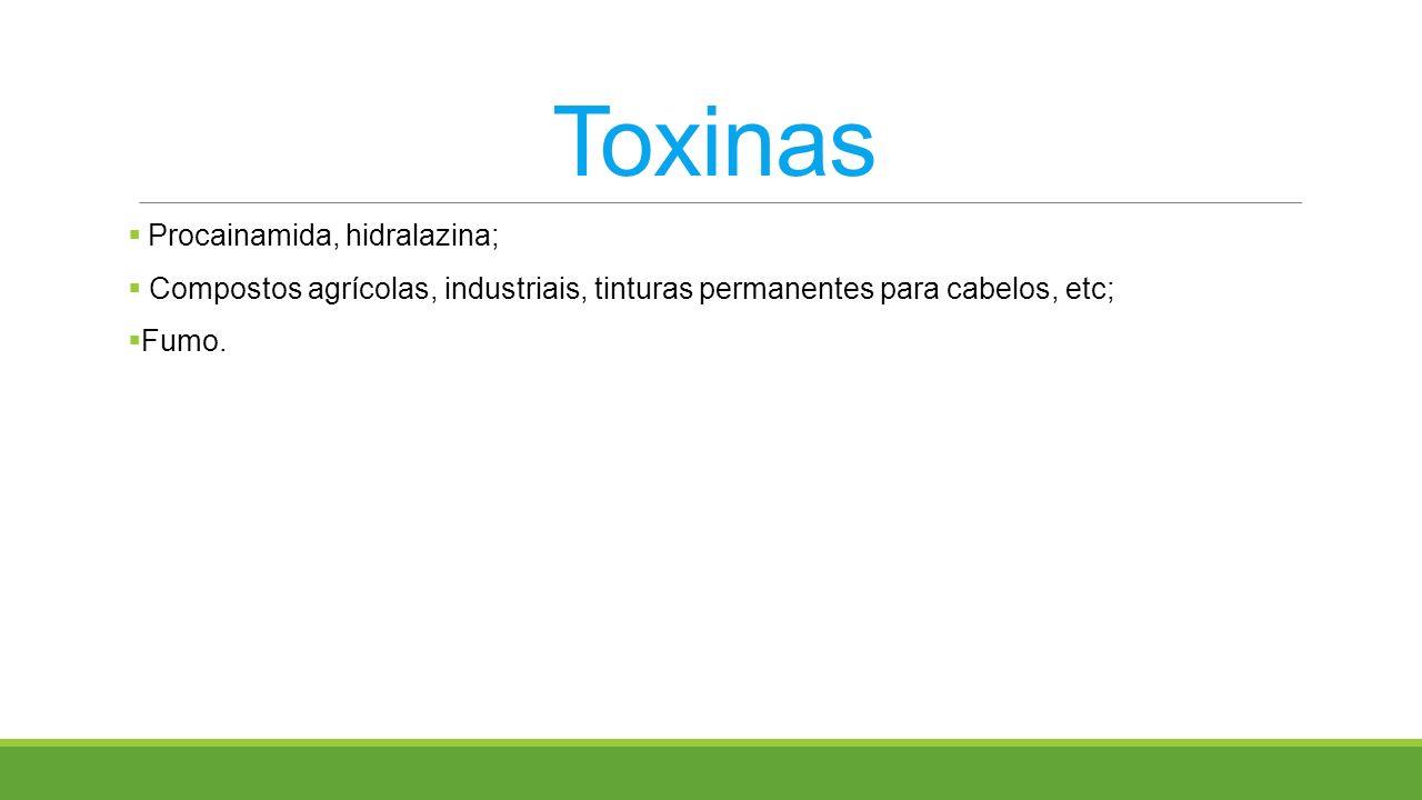 Toxinas Procainamida, hidralazina;