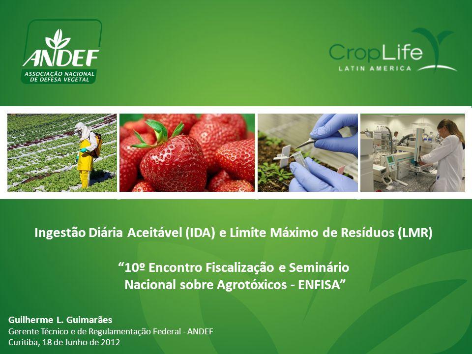 Ingestão Diária Aceitável (IDA) e Limite Máximo de Resíduos (LMR)
