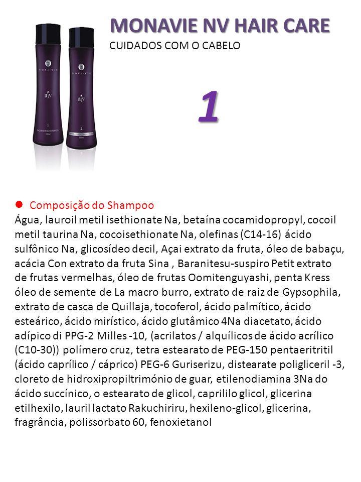 1 MONAVIE NV HAIR CARE CUIDADOS COM O CABELO Composição do Shampoo
