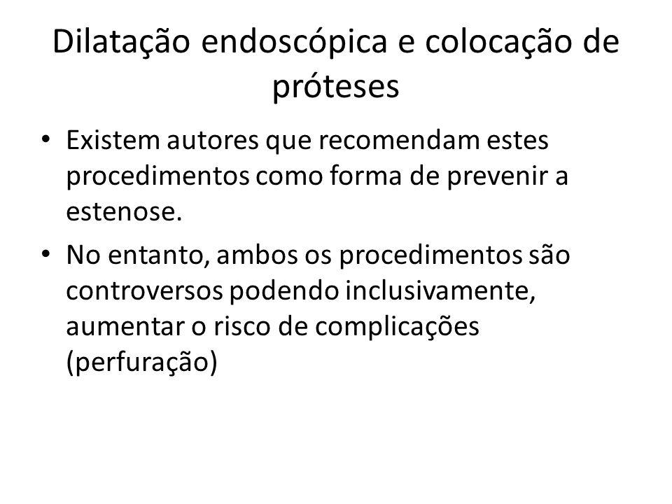 Dilatação endoscópica e colocação de próteses