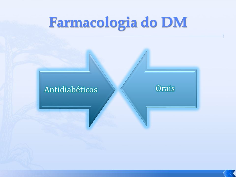 Farmacologia do DM Antidiabéticos Orais