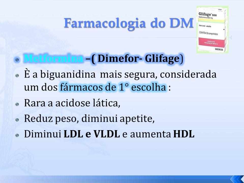Farmacologia do DM Metformina –( Dimefor- Glifage)