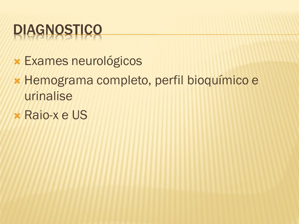 Diagnostico Exames neurológicos