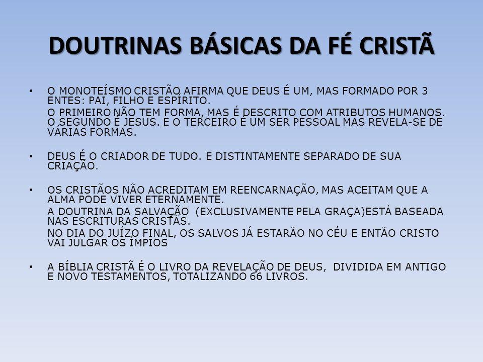 DOUTRINAS BÁSICAS DA FÉ CRISTÃ