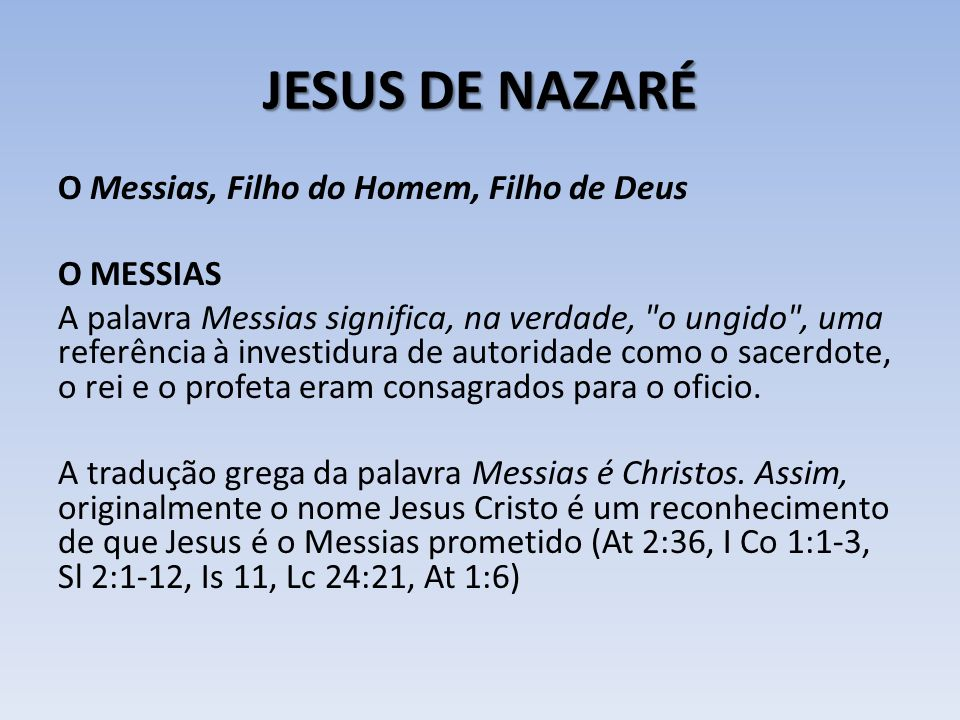 JESUS DE NAZARÉ