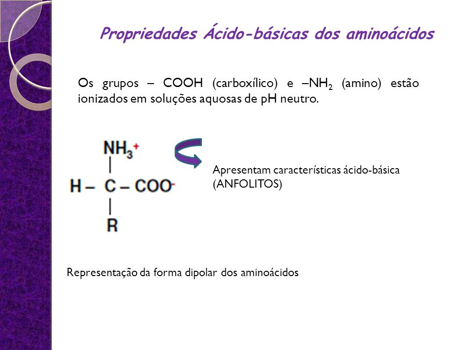 Propriedades Ácido-básicas dos aminoácidos