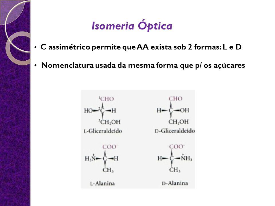 Isomeria Óptica • Nomenclatura usada da mesma forma que p/ os açúcares