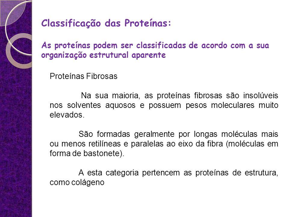 Classificação das Proteínas: