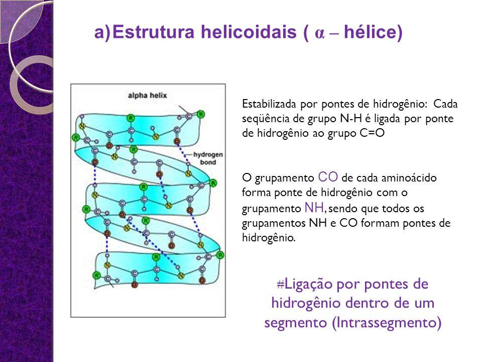 Estrutura helicoidais ( α – hélice)
