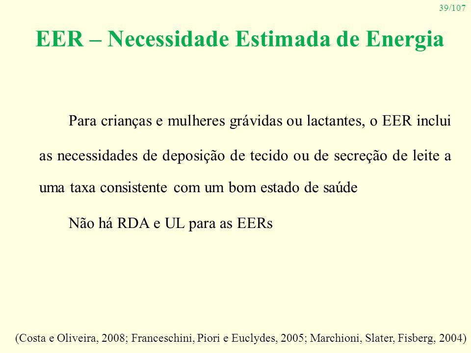 EER – Necessidade Estimada de Energia