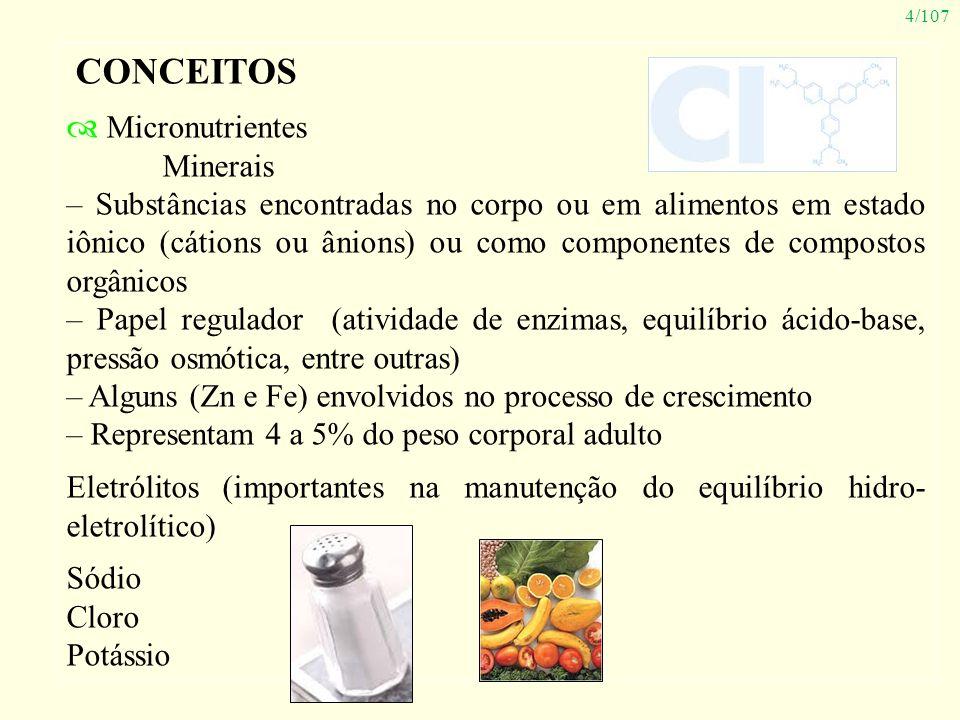 CONCEITOS Micronutrientes Minerais