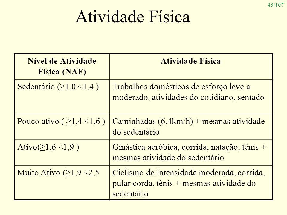 Nível de Atividade Física (NAF)