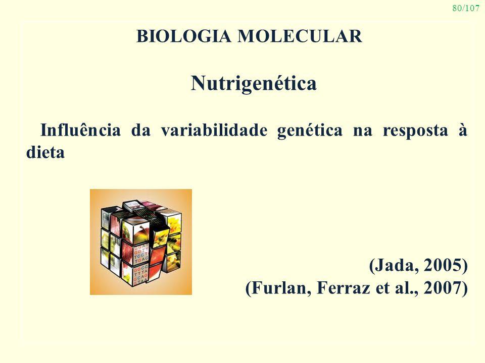 Nutrigenética Biologia Molecular