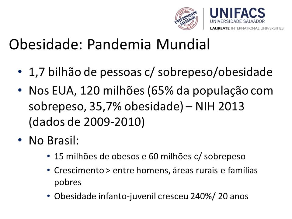 Obesidade: Pandemia Mundial