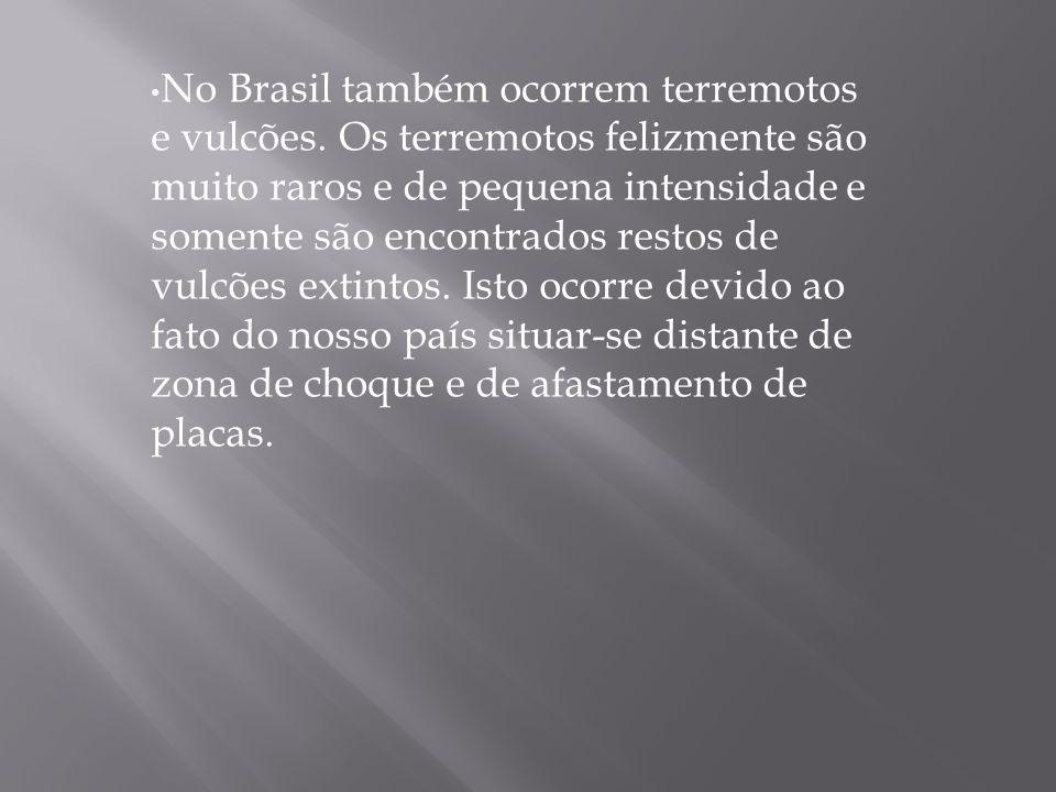 No Brasil também ocorrem terremotos e vulcões