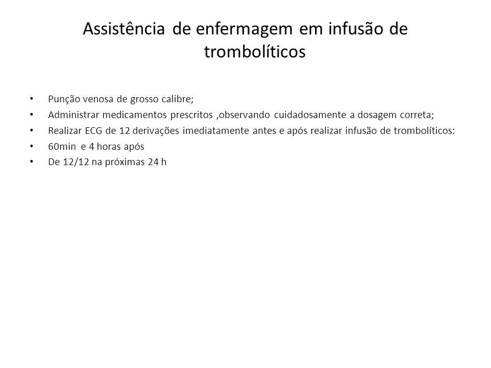 Assistência de enfermagem em infusão de trombolíticos