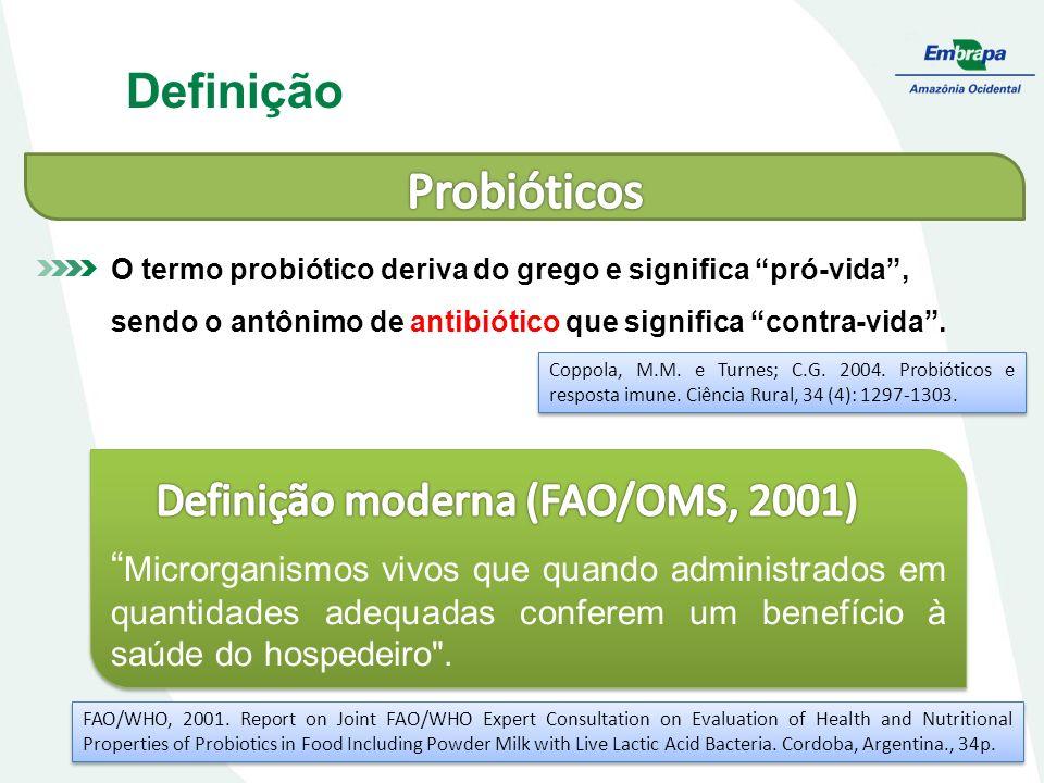 Definição moderna (FAO/OMS, 2001)