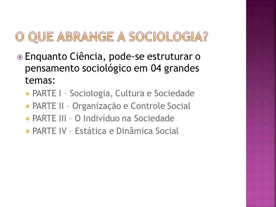 O que abrange a sociologia