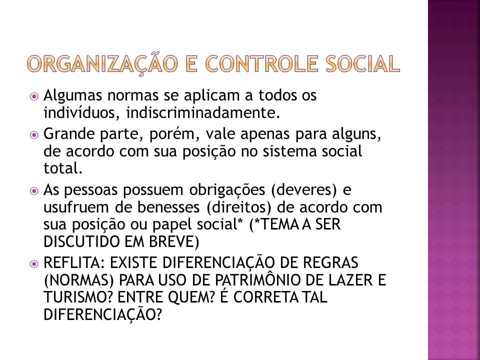 ORGANIZAÇÃO E CONTROLE SOCIAL