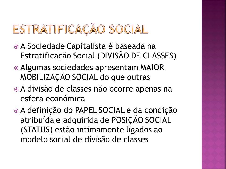 ESTRATIFICAÇÃO SOCIAL