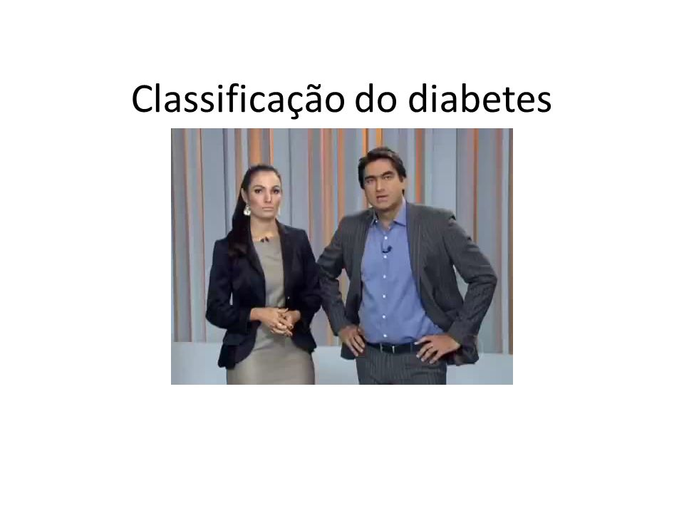 Classificação do diabetes