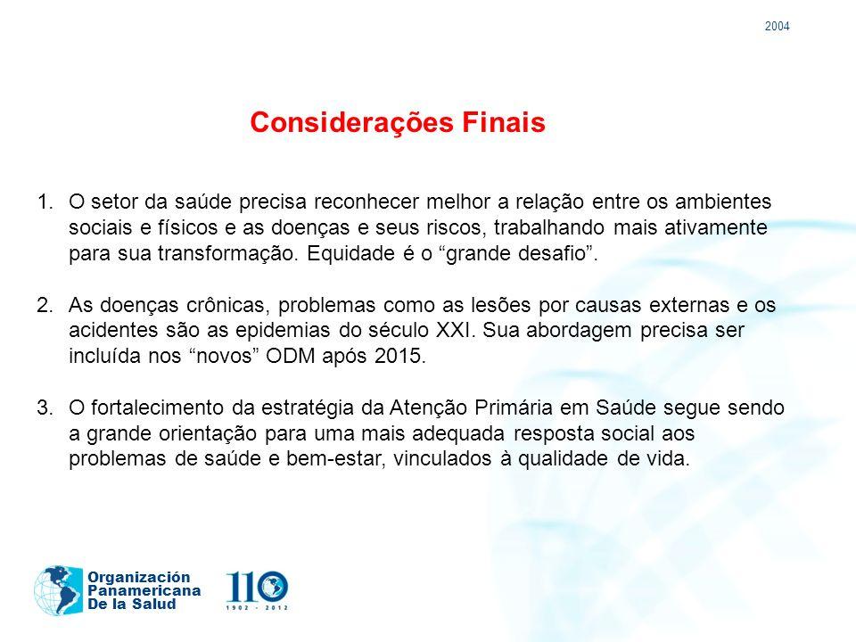 2004 Considerações Finais.
