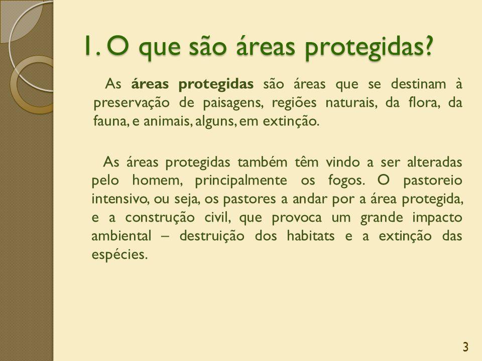 1. O que são áreas protegidas