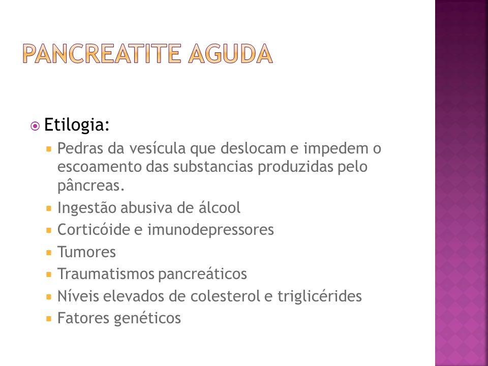 Pancreatite Aguda Etilogia: