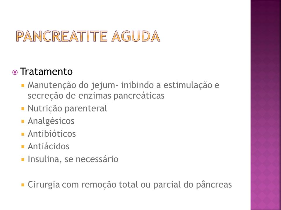 Pancreatite Aguda Tratamento