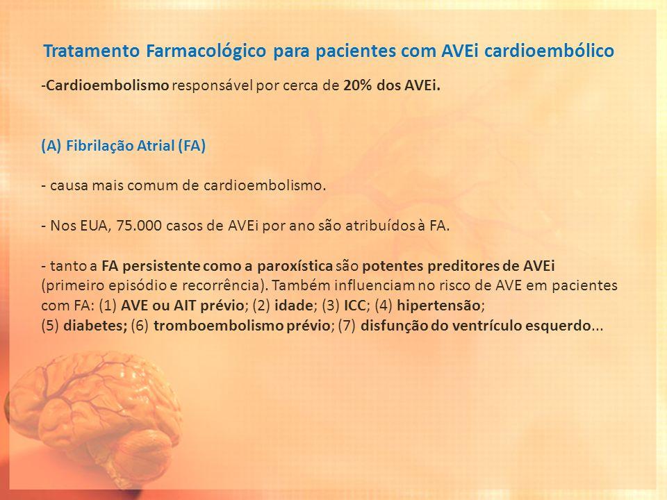 Tratamento Farmacológico para pacientes com AVEi cardioembólico