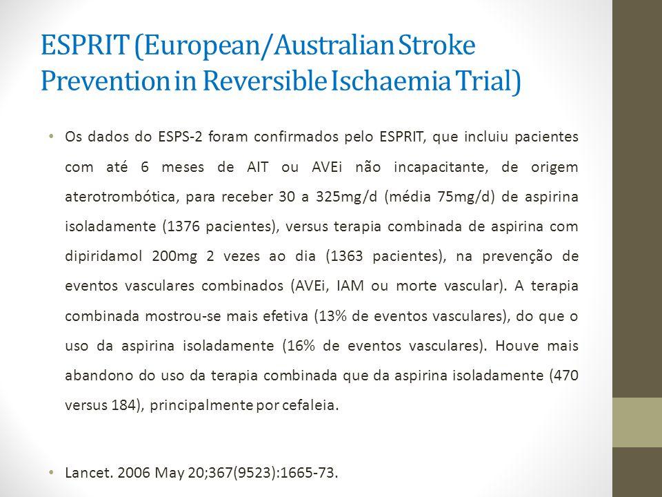 ESPRIT (European/Australian Stroke Prevention in Reversible Ischaemia Trial)