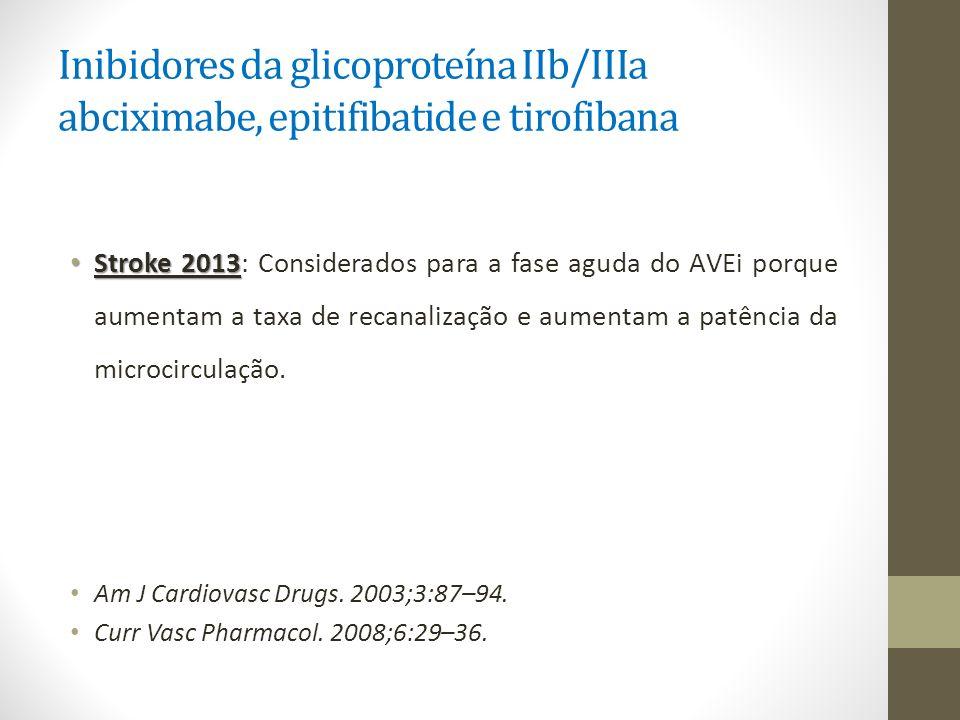 Inibidores da glicoproteína IIb/IIIa abciximabe, epitifibatide e tirofibana
