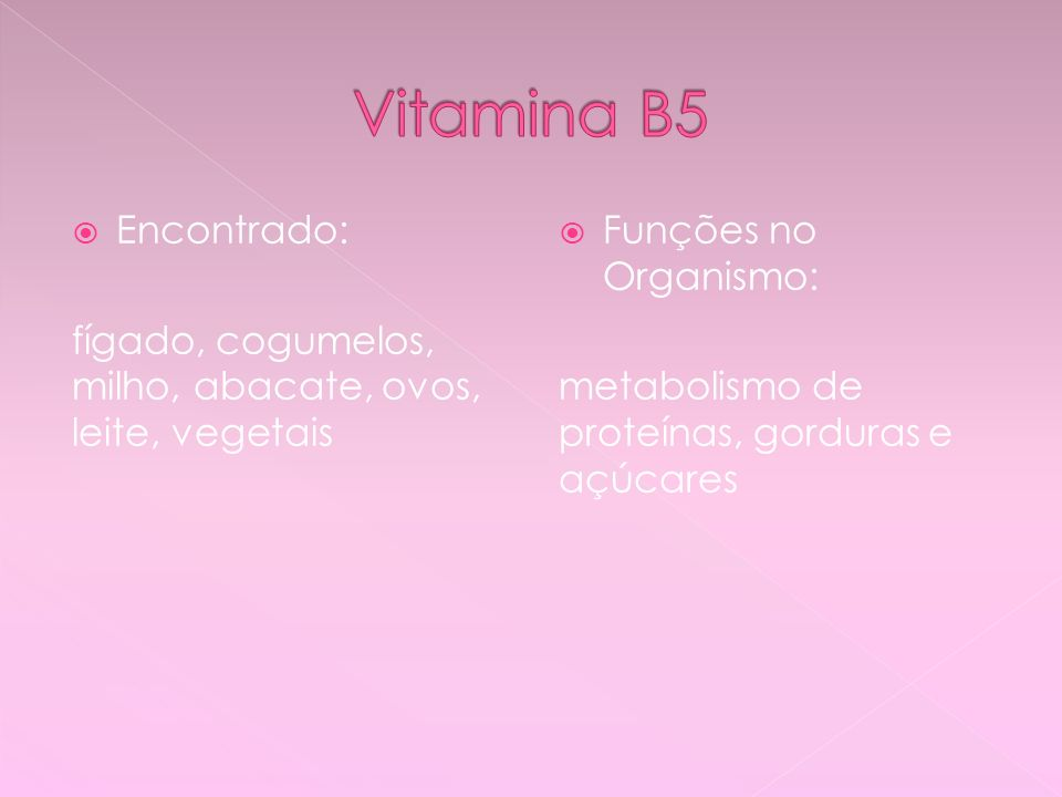 Vitamina B5 Encontrado:
