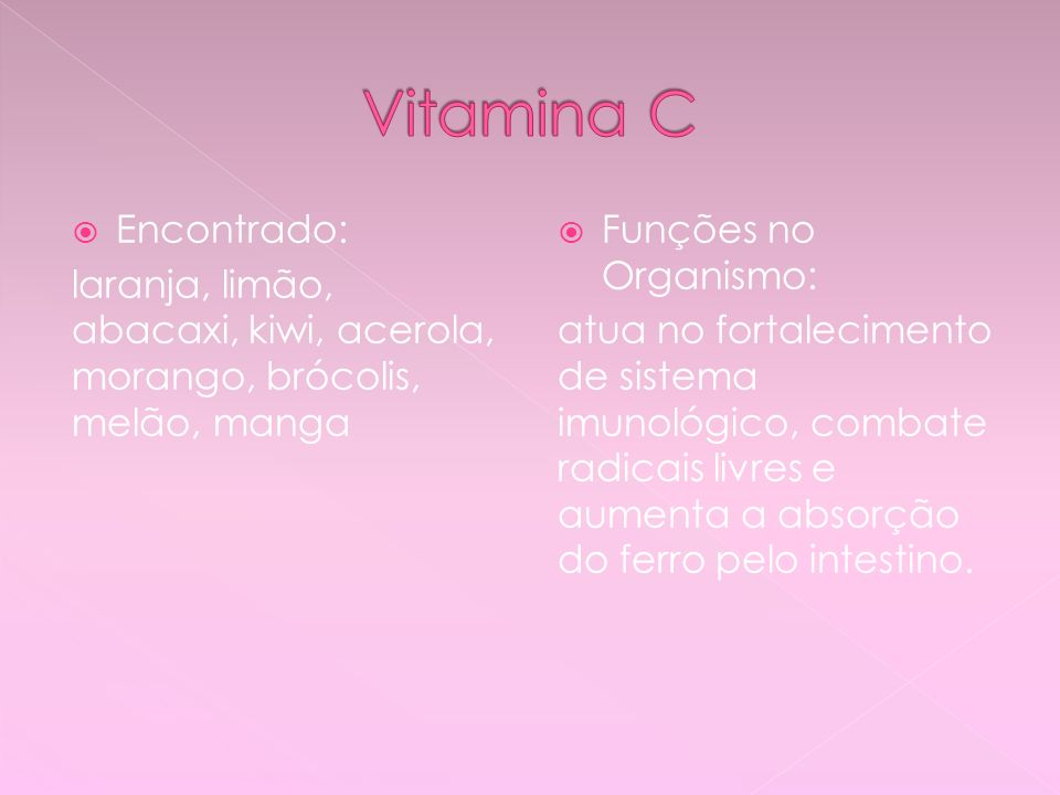 Vitamina C Encontrado: