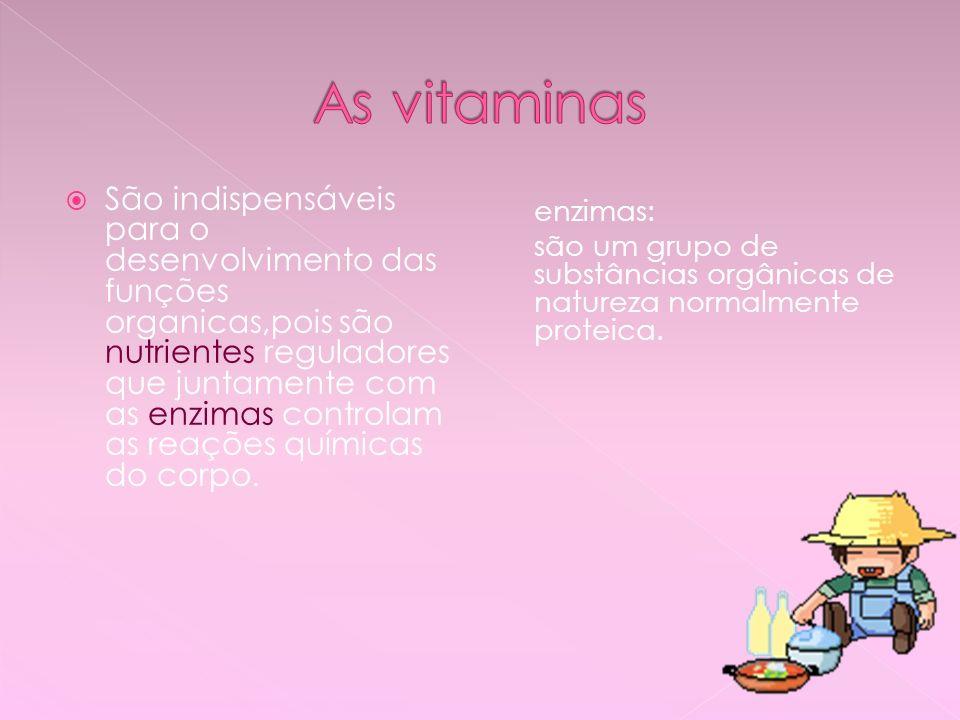 As vitaminas