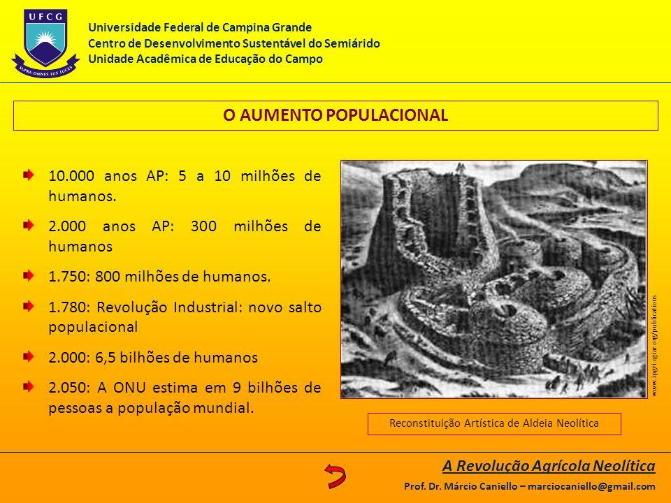 O AUMENTO POPULACIONAL