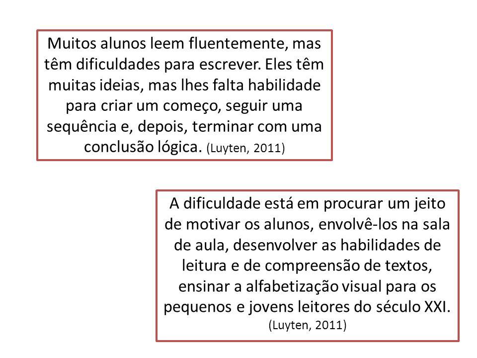 Muitos alunos leem fluentemente, mas têm dificuldades para escrever