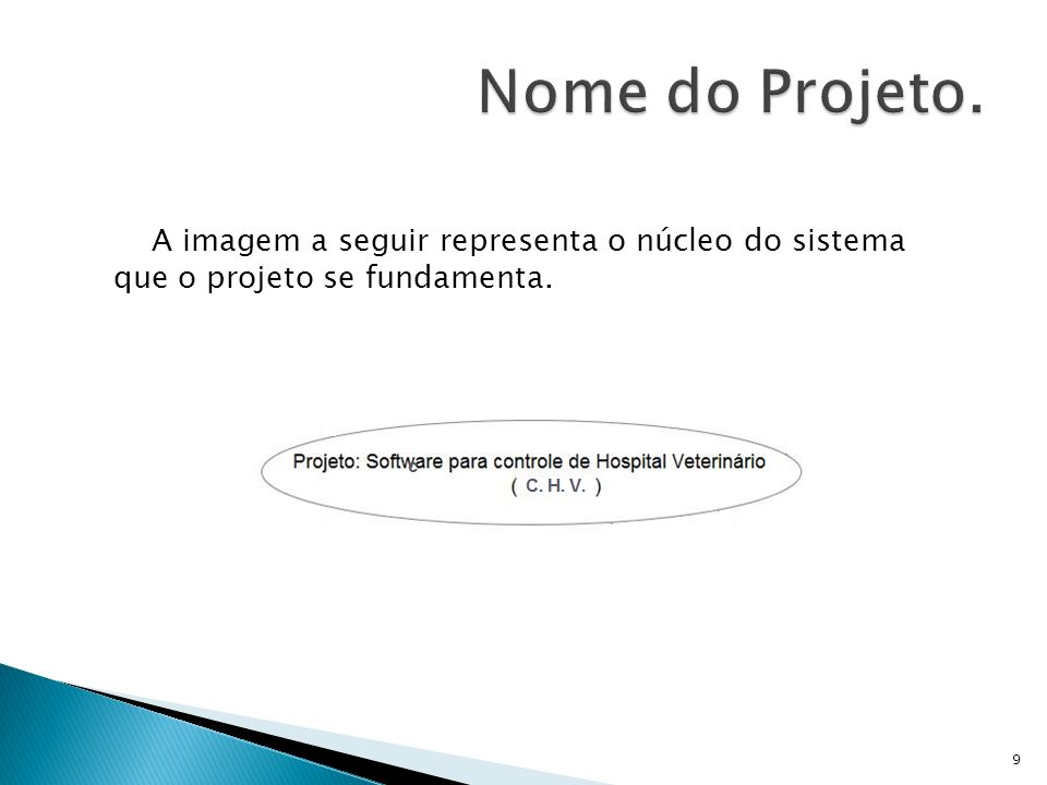 Nome do Projeto. A imagem a seguir representa o núcleo do sistema
