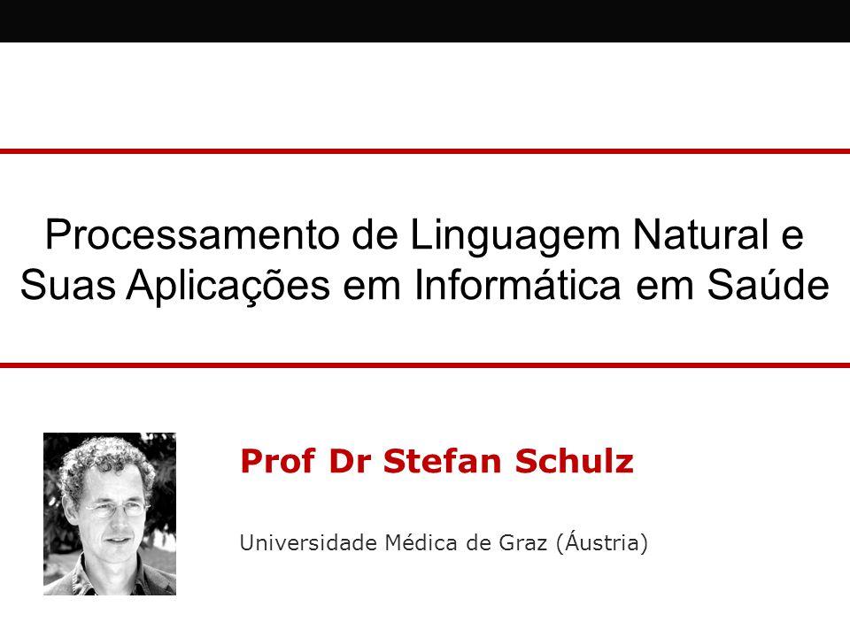 Processamento de Linguagem Natural e Suas Aplicações em Informática em Saúde