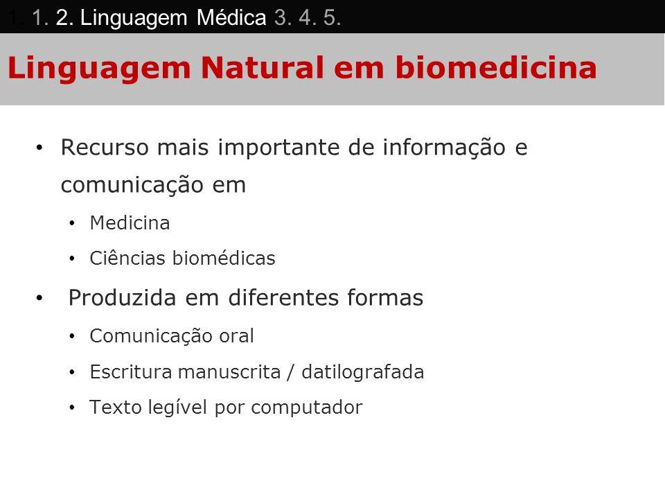 Linguagem Natural em biomedicina