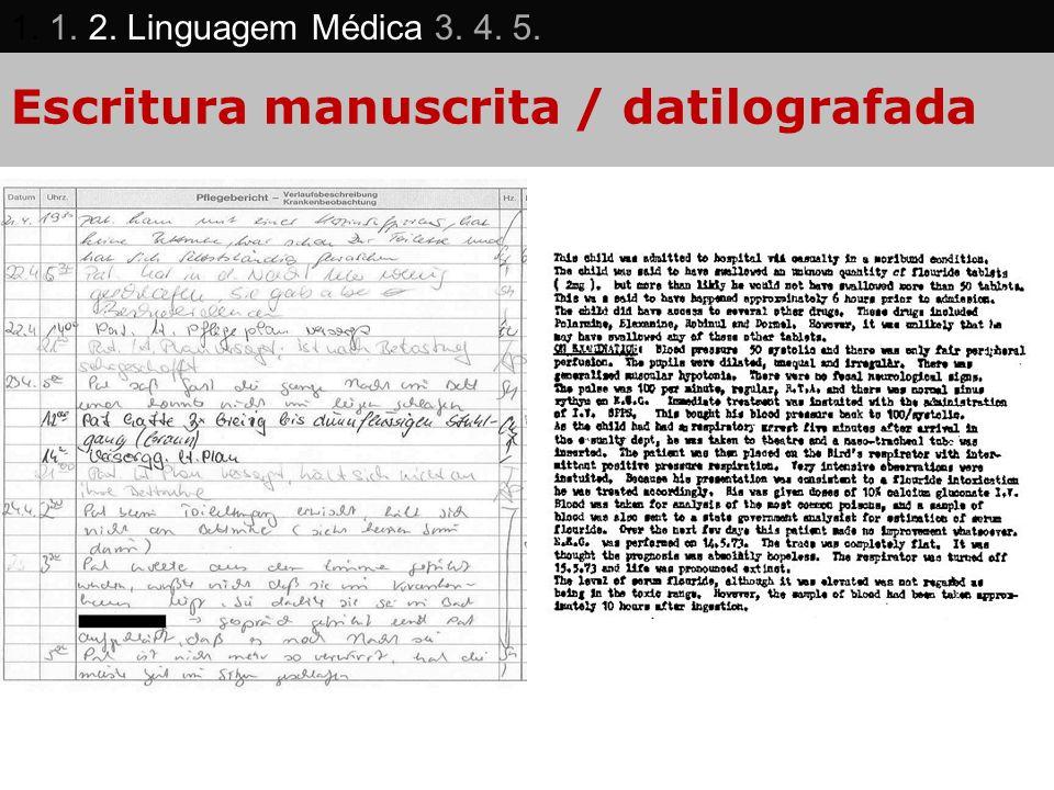 Escritura manuscrita / datilografada