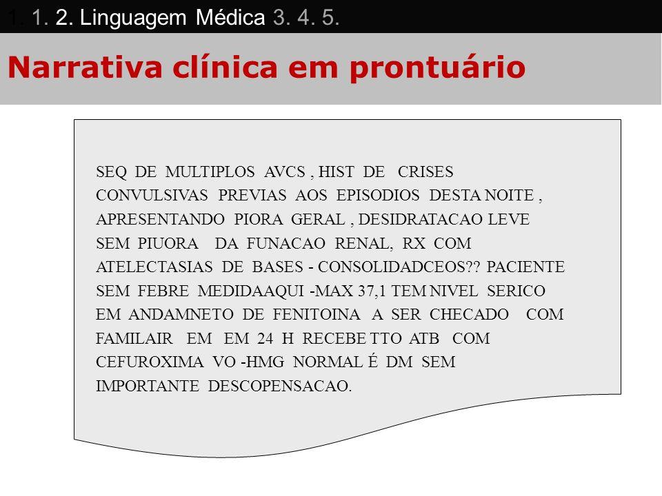 Narrativa clínica em prontuário